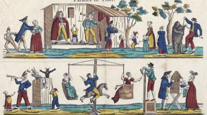 Appel à communication Colloque «  Identités et circulation des spectacles forains : musique, théâtre, danse, acrobaties et marionnettes, 1660-1830 »